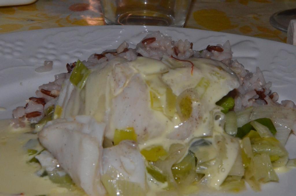 Poisson sauce noix de coco et safran